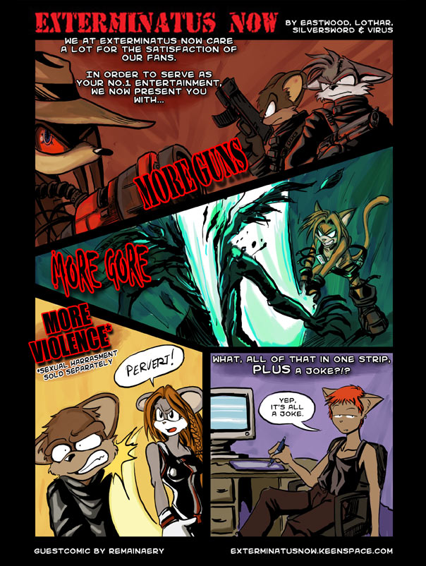 Guest Comic: Violent Fan Service, Courtesy of Remainery