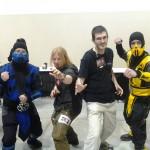 Sub Zero and Scorpion, aka Josh and Paul